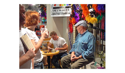 Chris Glaser booksigning at Outwrite Bookstore